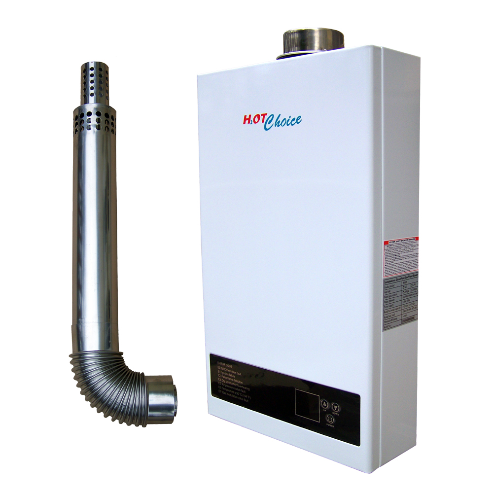 hot choice direct vent natural gas tankless water heater 14l 3 7gpm. Black Bedroom Furniture Sets. Home Design Ideas